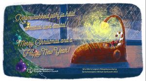 Jõulukaart Pälkapikusussilambiga